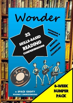 Wonder (32 Skills-Based Reading Comprehensions) by Mr A, Mr C and Mr D Present