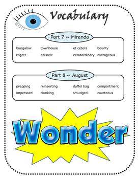 Wonder: A Novel Study Unit