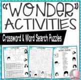 Wonder Activities R.J. Palacio Crossword and Word Search