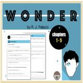 Wonder WORKSHEET (chapters 1-5)