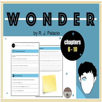 Wonder WORKSHEET (chapters 6-10)
