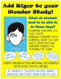 Wonder: Add Rigor While Reading! Analyzing and Writing Com