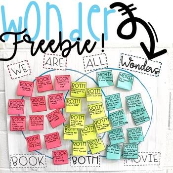 Wonder Anchor Chart Freebie!