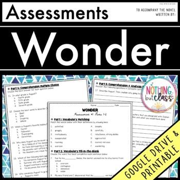 Wonder: Tests, Quizzes, Assessments