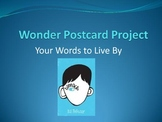 Wonder Back to School Postcard Project
