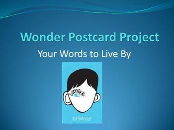 Wonder Back to School Postcard Project