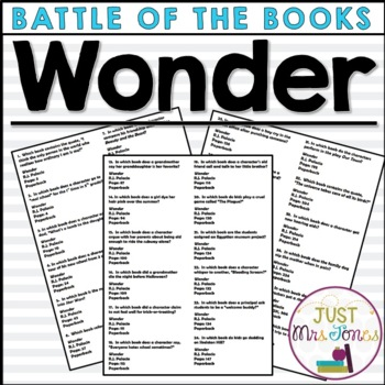 Wonder Battle of the Books Trivia Questions