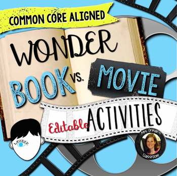 wonder book movie comparison editable activities by tracee
