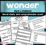 Wonder by R.J Palacio- Novel Study and Comprehension Task Cards
