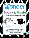 Wonder Book vs. Movie Compare and Contrast - Digital Copy