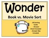 Wonder Book vs. Movie Sort