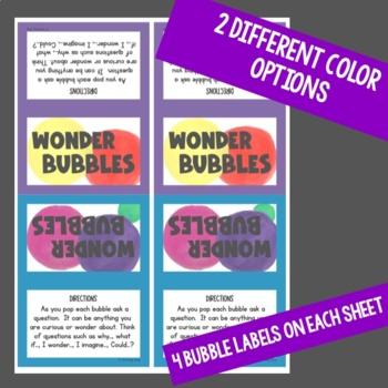 Wonder Bubbles Exploration, Creativity and Curiosity Activity