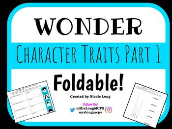 Wonder Character Traits Foldable Version 2!