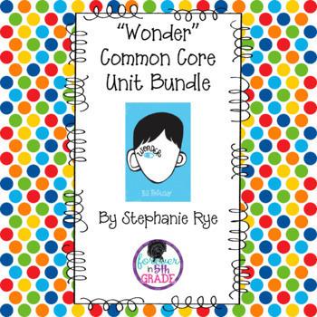 """""""Wonder"""" Common Core Unit Bundle"""