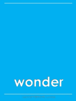Wonder Complete Movie Guide and Activities (Editable!)