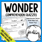 Wonder Comprehension Questions
