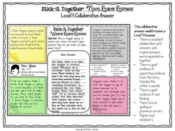 Wonder Comprehension Questions Collaborative Activity
