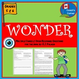 Wonder by R.J. Palacio Comprehension Questions