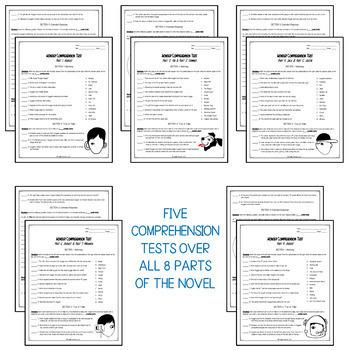 Wonder Comprehension Test Bundle | Wonder Novel Study | Wonder Novel Resources