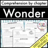 Wonder: Comprehension Questions by chapter Distance Learning