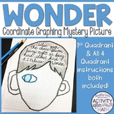 Wonder Coordinate Graphing Mystery Picture 1st Quadrant & ALL 4 Quadrants