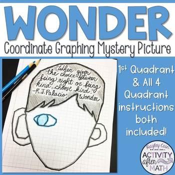 Wonder Coordinate Graphing Picture 1st Quadrant & ALL 4 Quadrants