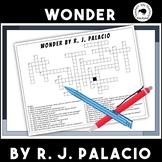Wonder Crossword by R J Palacio (Comprehension)