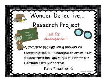 Wonder Detective Research For Kindergarten