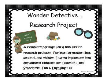 Wonder Detective Research Packet