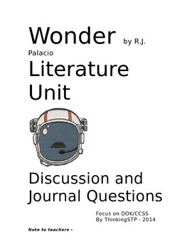 Wonder - Depth of Knowledge Questions