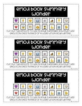 Wonder Emoji Story Summary FREEBIE