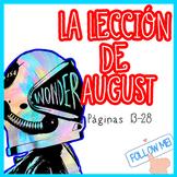 Wonder En Español: La Lección de August (Reading Skills Activity)