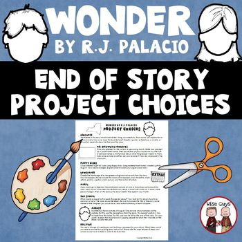 Wonder End of Novel Project Choices Activity