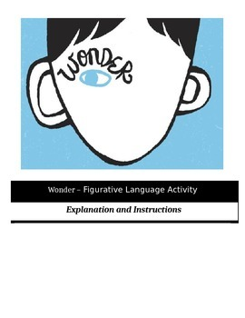 Wonder - Figurative Language Activity
