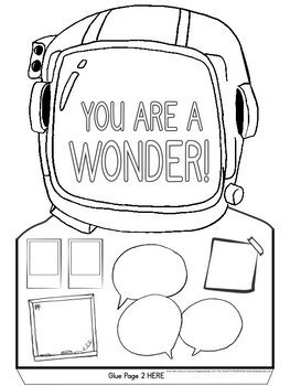 wonder coloring pages Wonder Freebie: Wonder Kindness Poster by Art with Jenny K | TpT wonder coloring pages