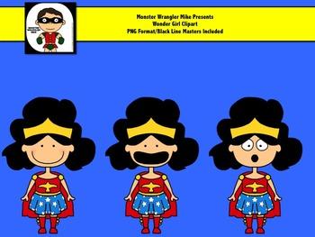 Wonder Girl Clip Art Mini Set FREEBIE