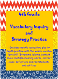 Girls 4th Grade Wonders: Unit 3 Vocabulary Inquiry and Skills Practice