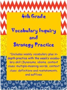 Girls 4th Grade Wonders: Unit 3 Vocabulary Inquiry and Skills Practice