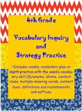 Girls 4th Grade Wonders: Unit 3 Vocabulary Inquiry and Ski