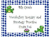 WonderGirls 4th Grade: Units 1-6 Vocabulary Inquiry and Sk