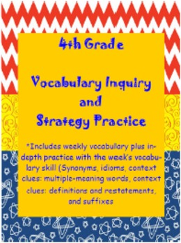 Wonder Girls 4th Grade Unit 2:Vocabulary Inquiry and Vocabulary Skills Practice