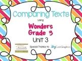 Wonder Grade 3: Unit 3 Compare and Contrast