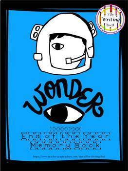 Wonder Inspired End of the Year Memory Book