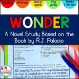 Integrated Novel Study   Wonder by RJ Palacio