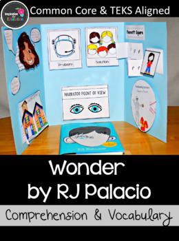 Wonder Interactive Novel Study and Vocabulary with PowerPoint Lessons BUNDLE