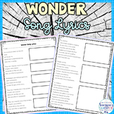 Wonder Lyric Analysis Activity