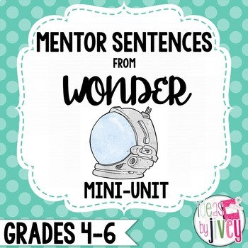 Wonder Mentor Sentences and Interactive Activities Mini-Unit (Grades 4-6)