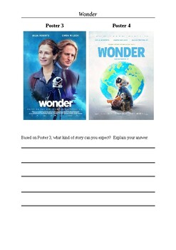 Wonder Movie Anticipation Exercise Film Posters By M Walsh Tpt