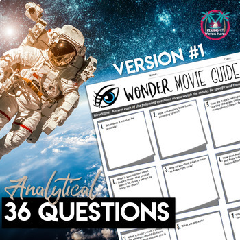 Wonder Movie Guide with Critical Thinking Questions for Secondary