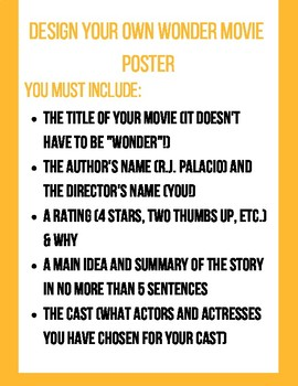 Wonder Movie Poster Project